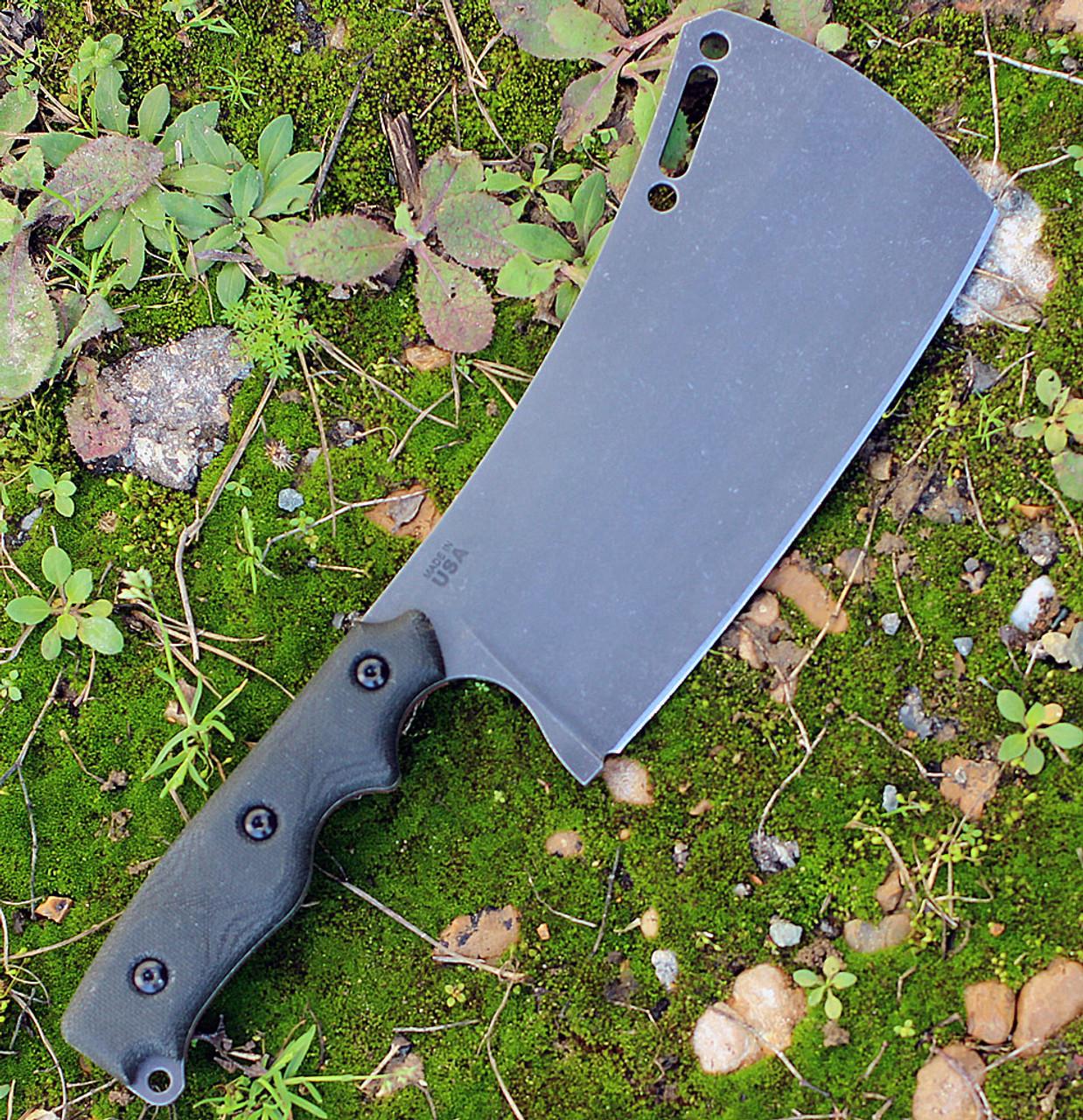 """TOPS ECHA01 El Chappo, 6"""" 1095 Plain Blade, Black Canvas Micarta Handle"""