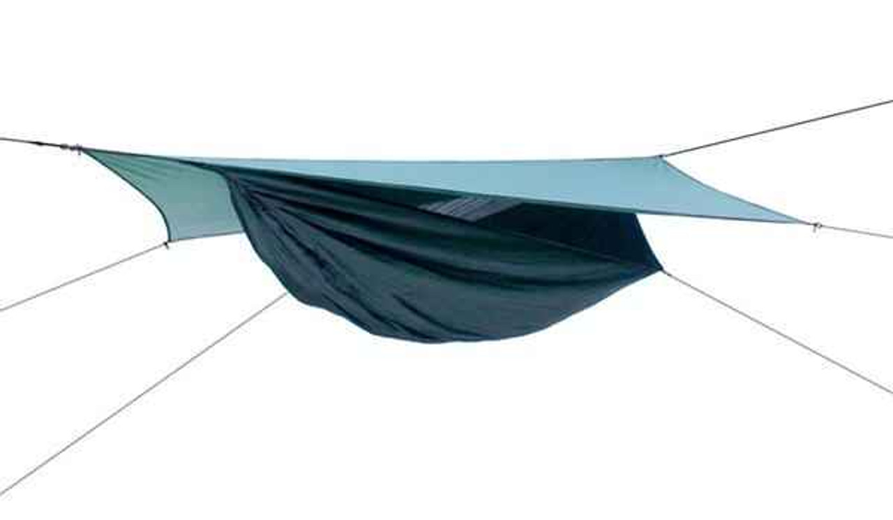 Hennessy Expedition Asym Classic bottom entry with velcro closure.