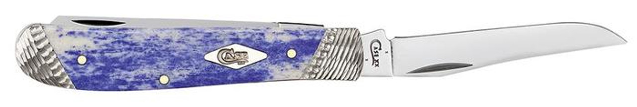 "Smooth Ultraviolet Mini Trapper, 2.7"" Tru-Sharp Stainless, Mirror-Polished Blade, Ultraviolet Bone Smooth Handle"