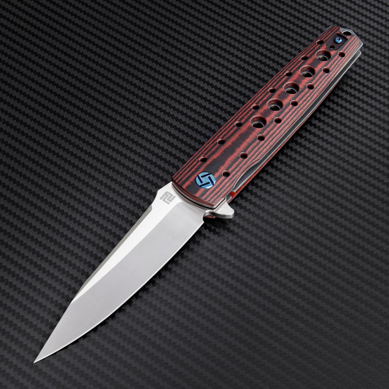 "Artisan ATZ1807GBRM Virginia, 3.94"" M390 Plain Blade, Brown G-10 Handle"