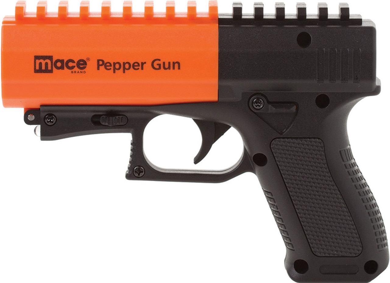 "Mace Pepper Gun, 6.5"" Overall Length, 10% OC Pepper with UV Dye, Pistol Grip"