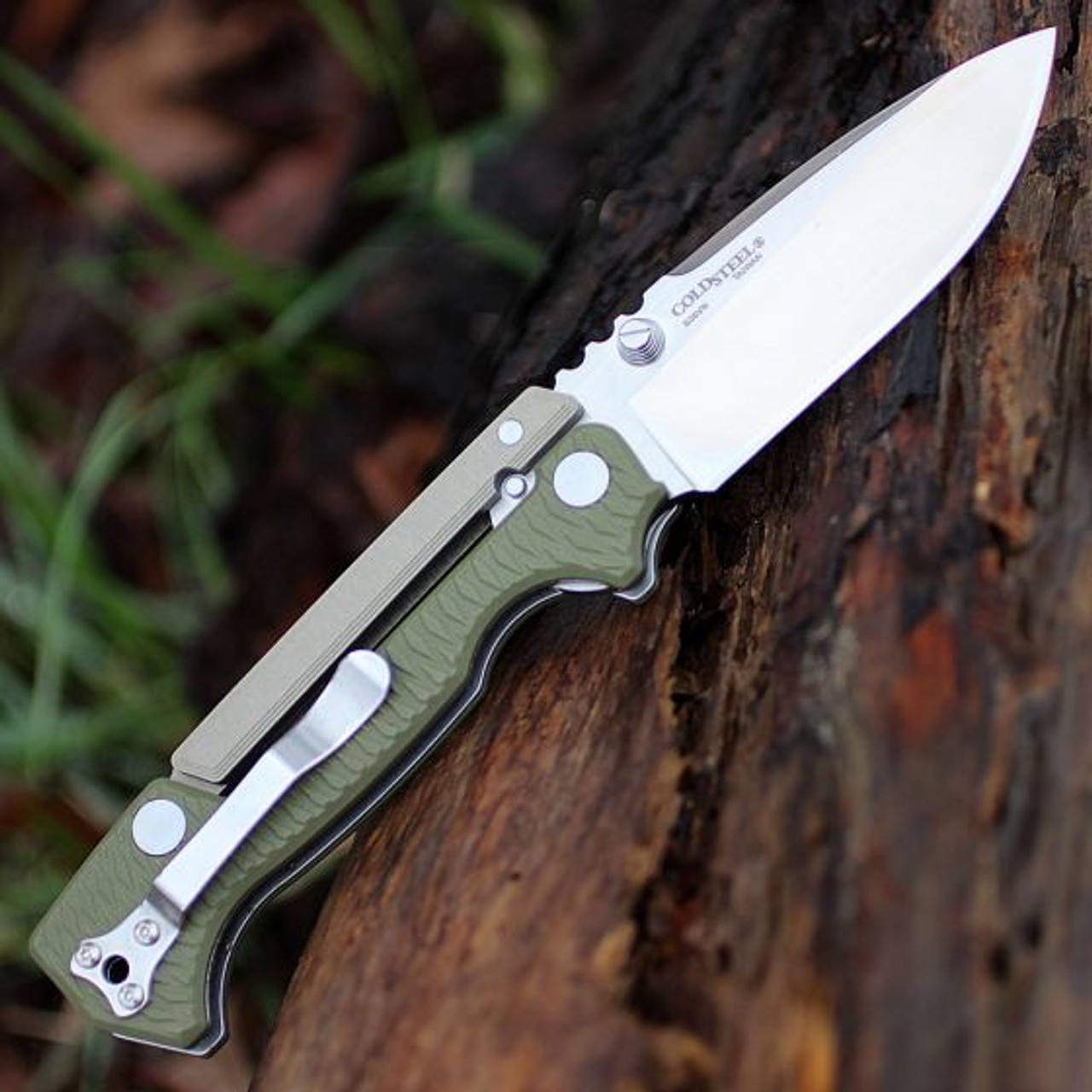 Cold Steel SR1 CPM-S35VN Tanto Point long OD Green Colored G-10 Handle 62LA NEW