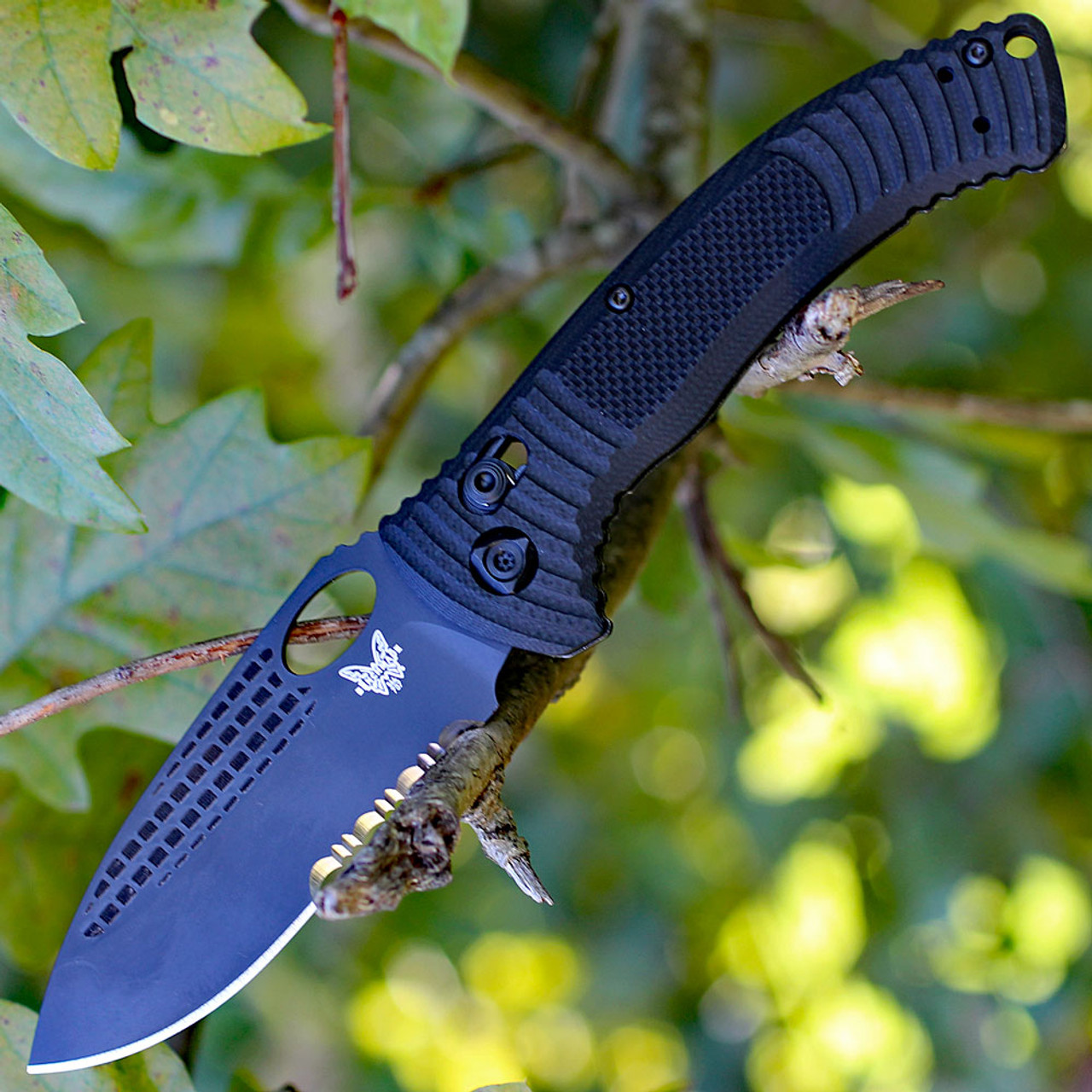 Benchmade 550Sbkod-S30V Griptilian Olive Drab Sheepsfoot Black Serrated