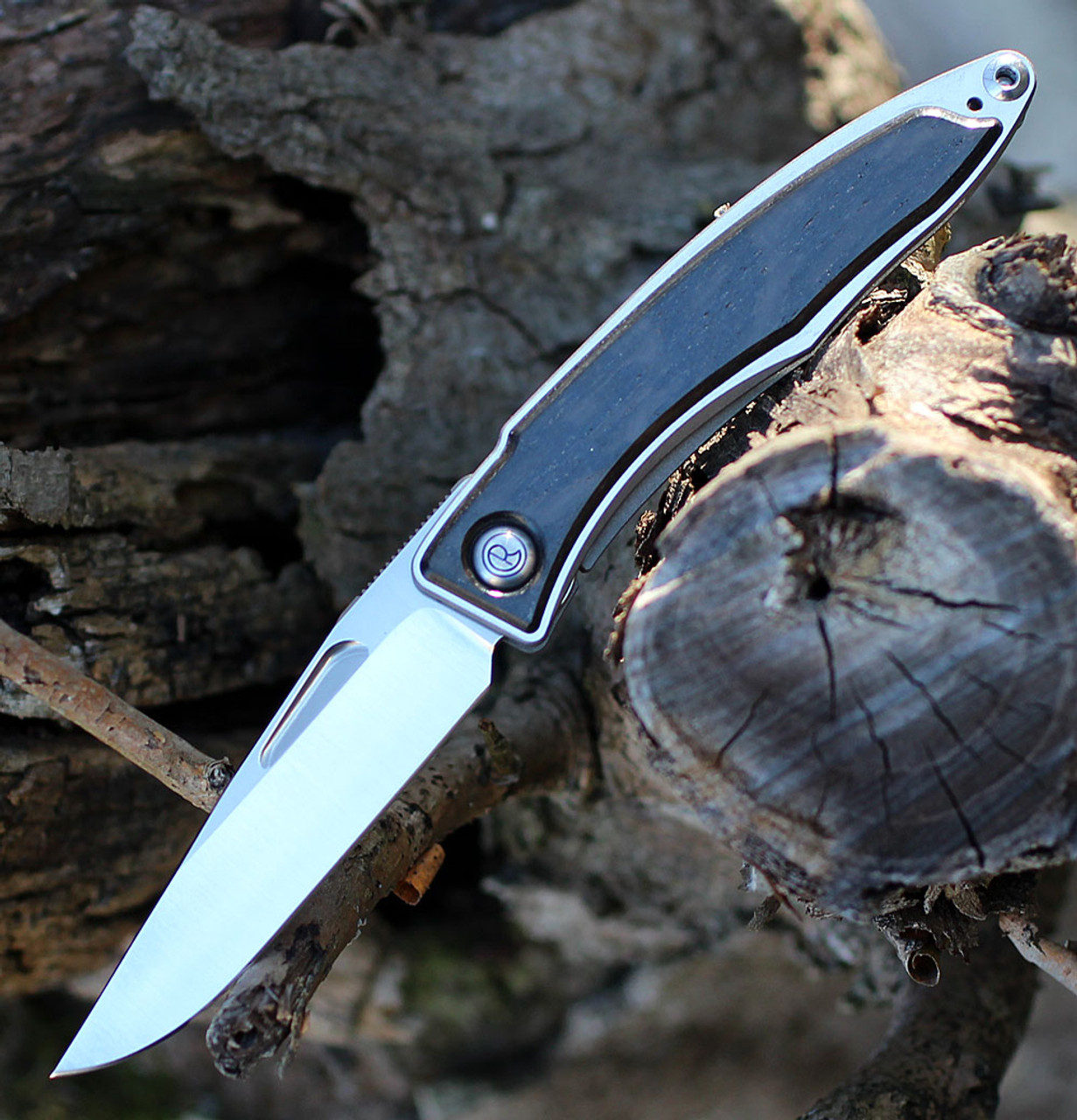 Chris Reeve Mnandi Inlay Bog Oak Drop Point (MNA-1000)