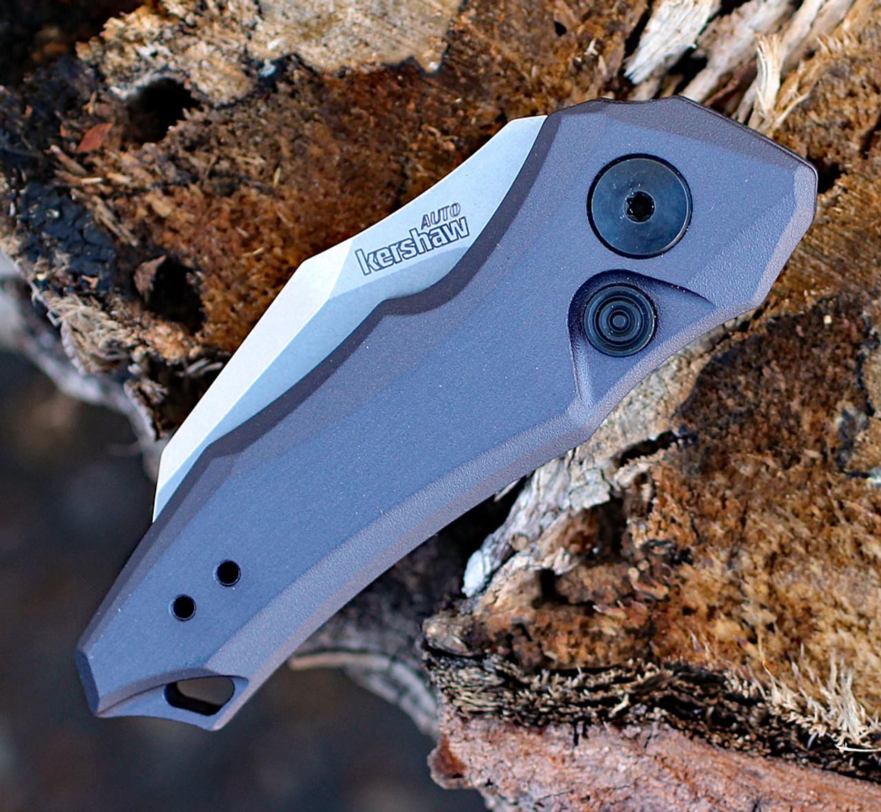 "Kershaw 7350 Launch 10, 1.9"" CPM 154 Plain Blade, Gray Aluminum Handle"