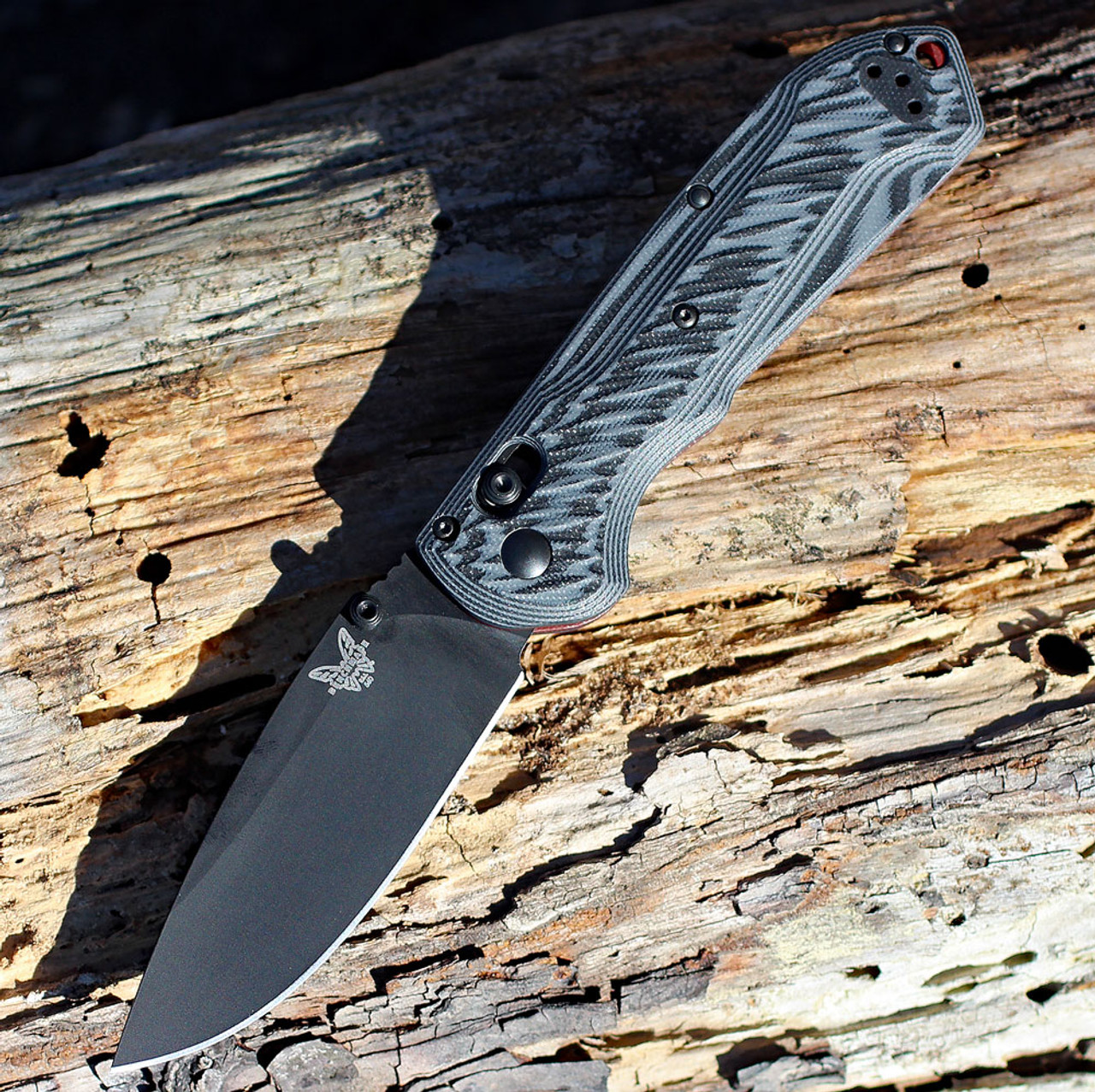 "Benchmade 560BK-1 Freek, 3.6"" CPM-M4 Black Blade, Gray and black textured G10 Handles"