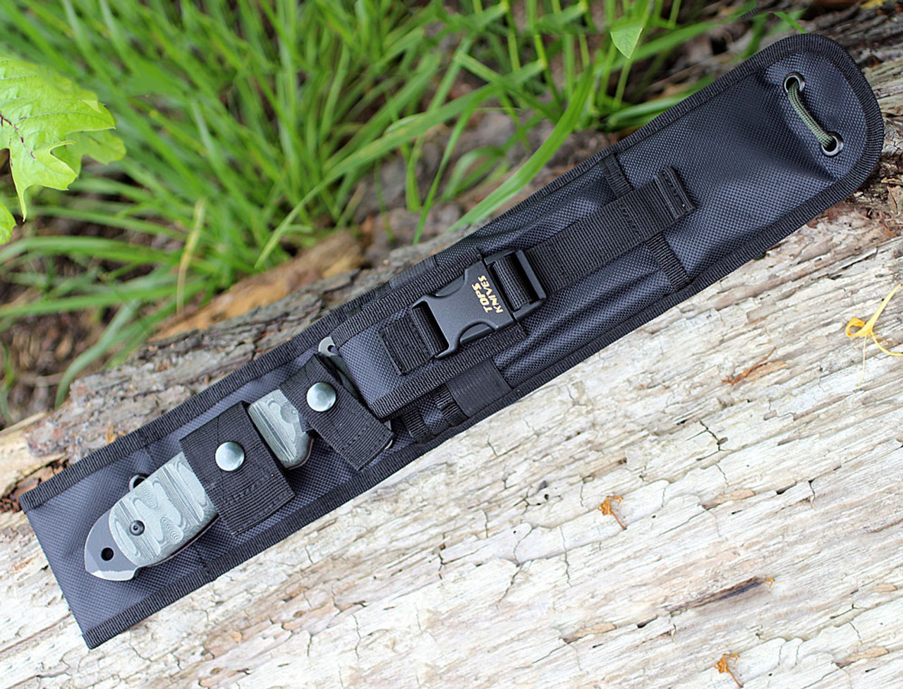 TOPS Knives SKB-10 CAMO Skullcrusher's Xtreme Blade 15.75 in. Fixed Blade Designed by EJ Snyder