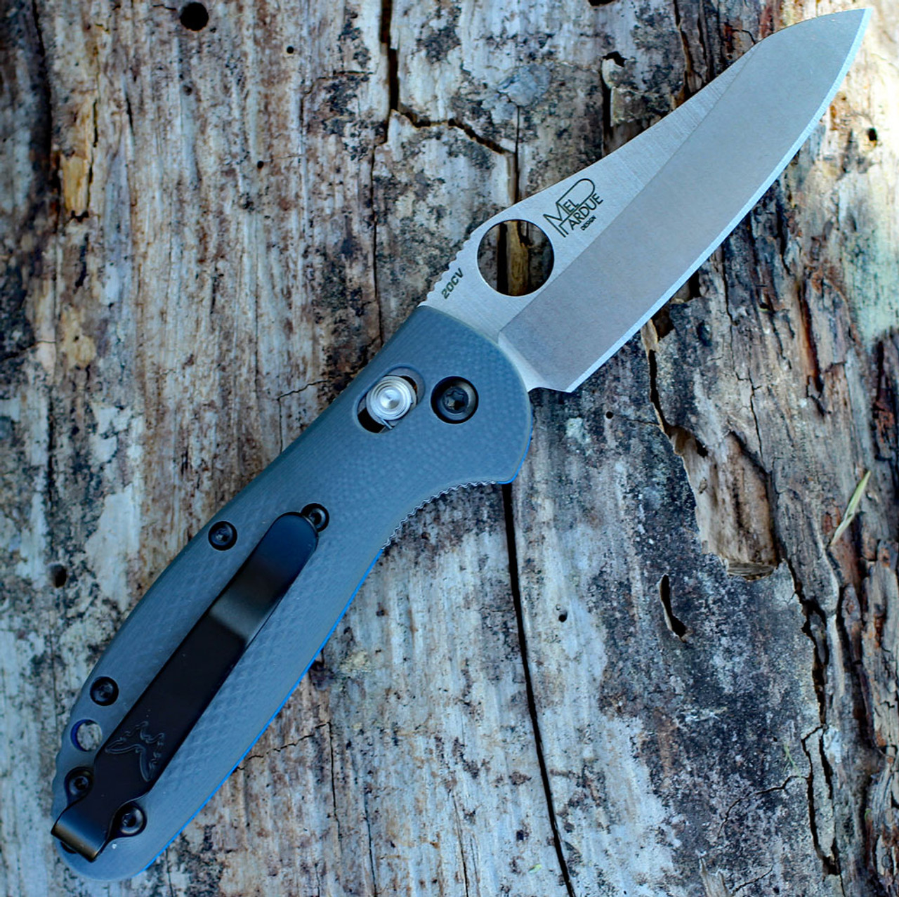 Benchmade G10 Mini Griptilian 555-1, 2.91 in. CPM-20CV Stainless, Plain Edge-Discontinued