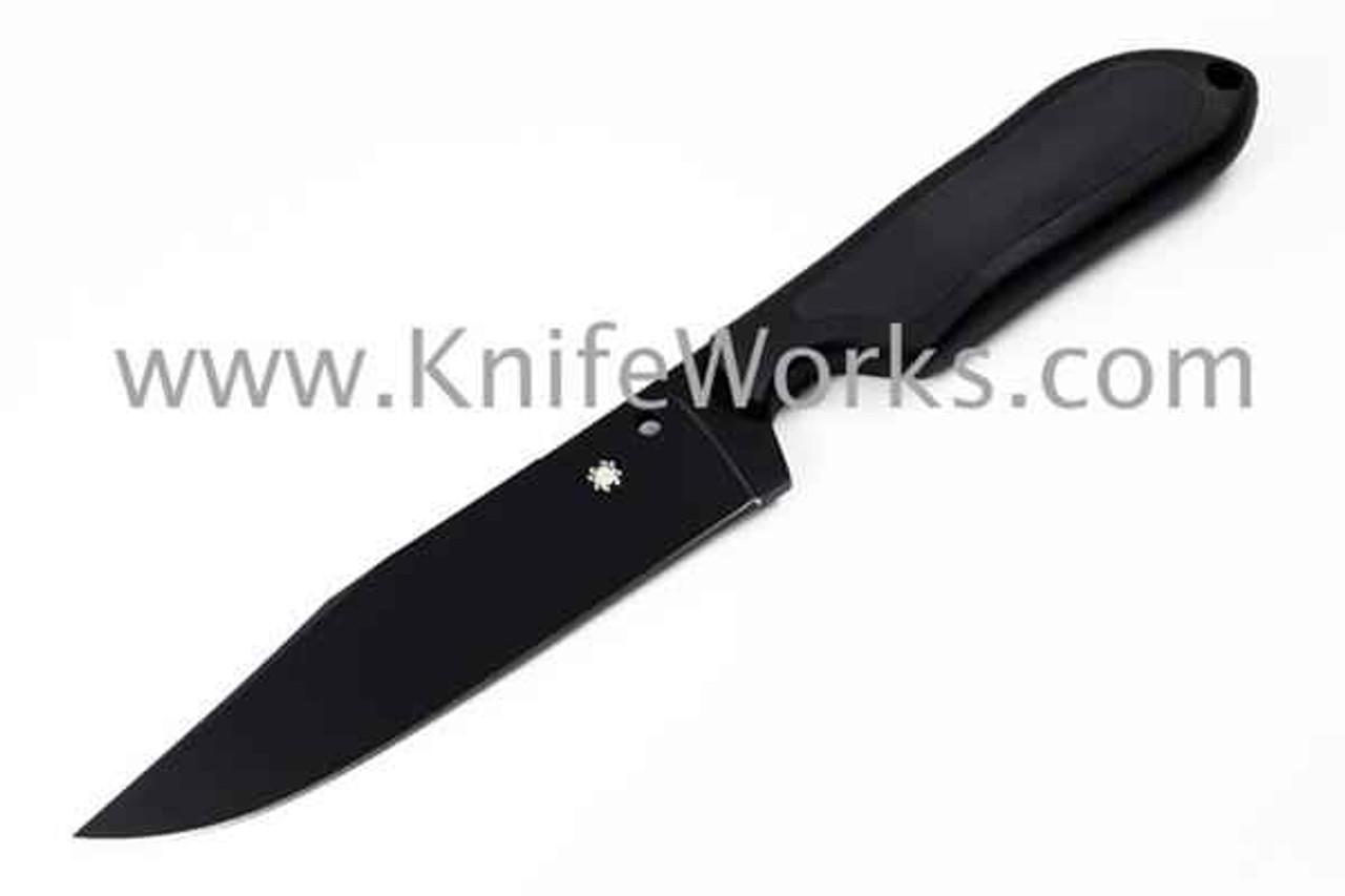 "Spyderco Perrin Street Bowie FB04PBB, 5.05"" VG-10 Black Plain Blade"