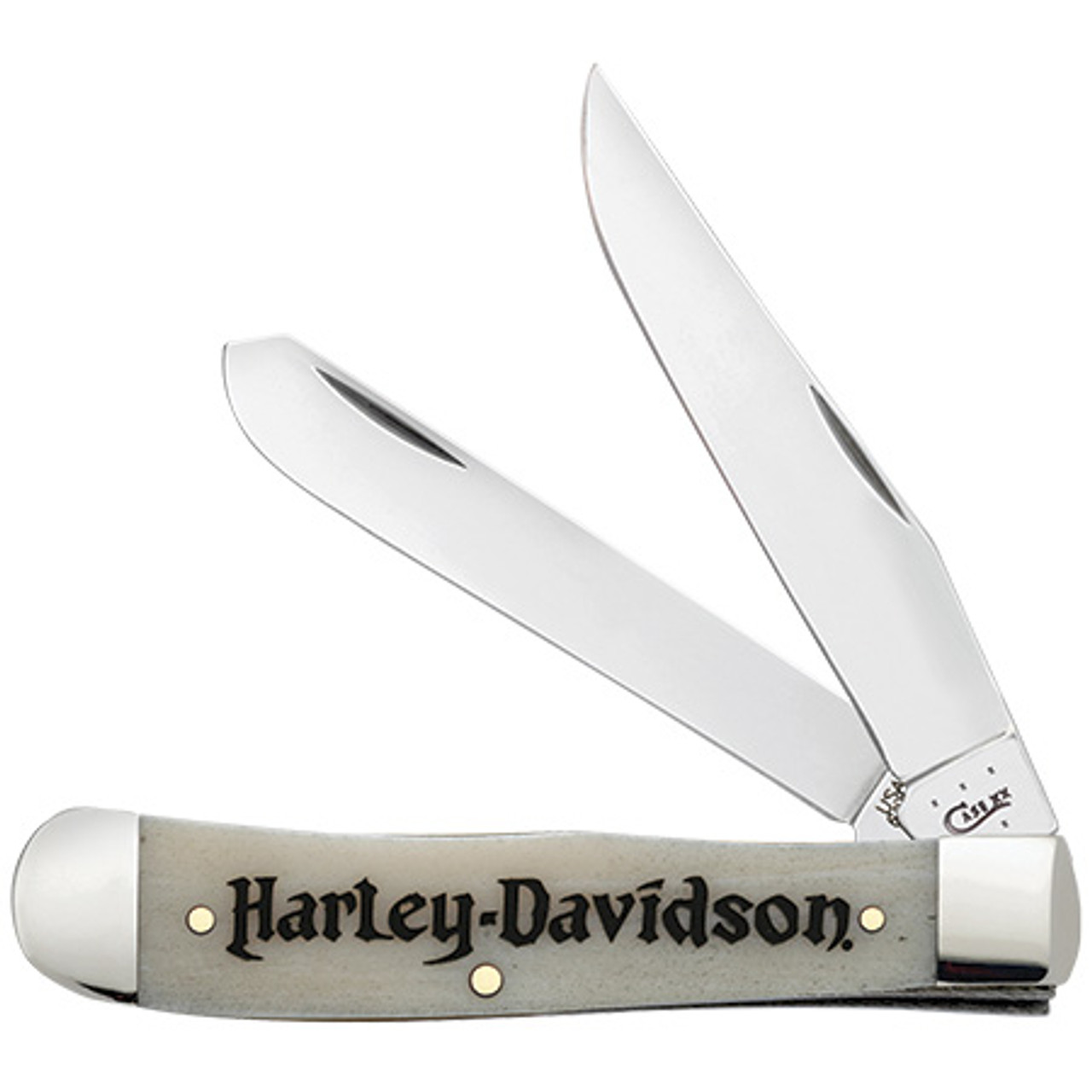 Case Harley Davidson Smooth Natural Bone Handle, 52140 Trapper