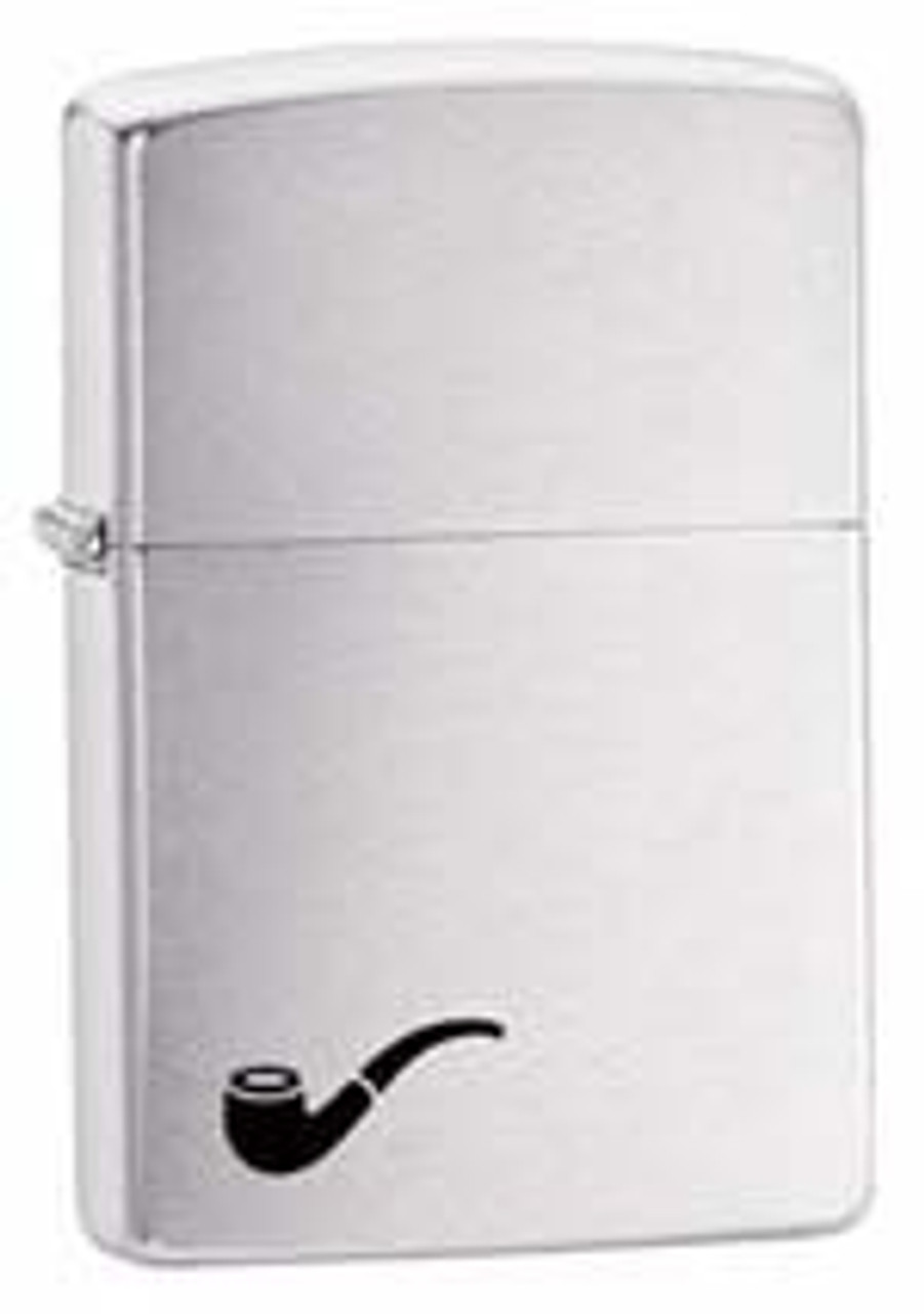Zippo Z200PL Classic Pipe, Brushed Chrome