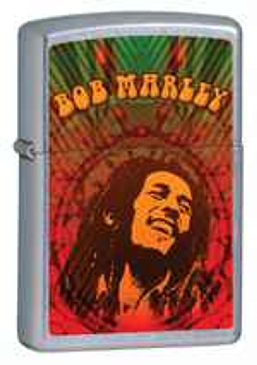 Zippo Z24991 Classic Lighter, Bob Marley Smile, Street Chrome