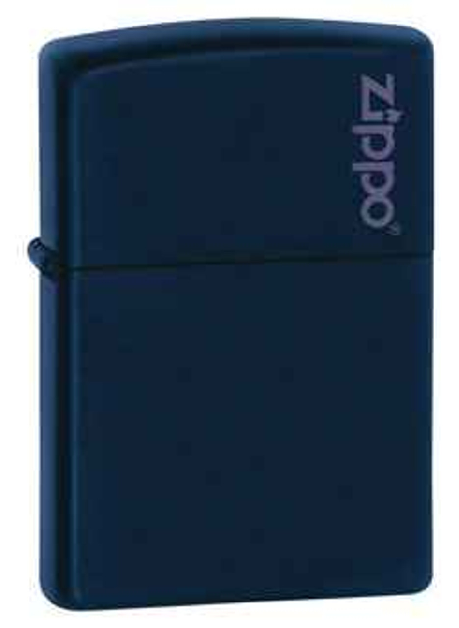 Zippo Z239ZL Lighter Navy Matte with Zippo Logo