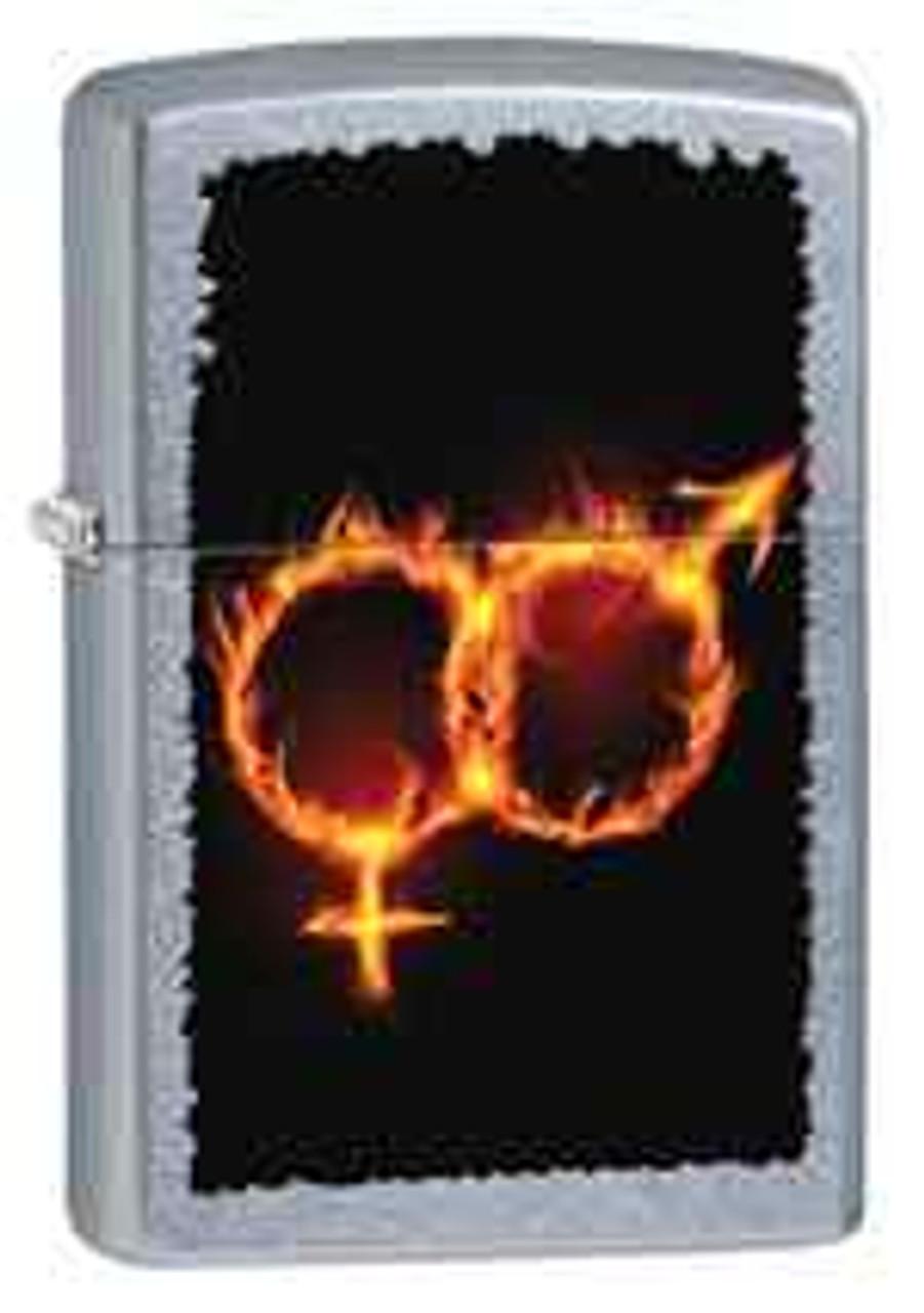 Zippo Z28446 Classic Lighter, Mars & Venus Fire, Street Chrome