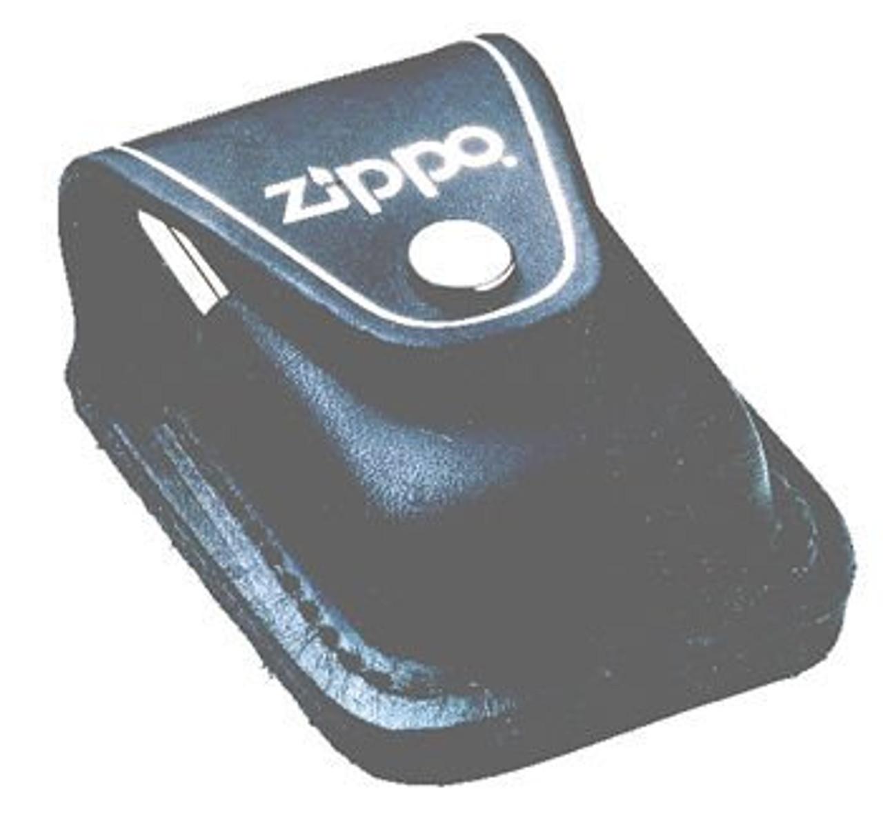 Zippo ZLPLBK Black Leather Lighter Pouch with Belt Loop