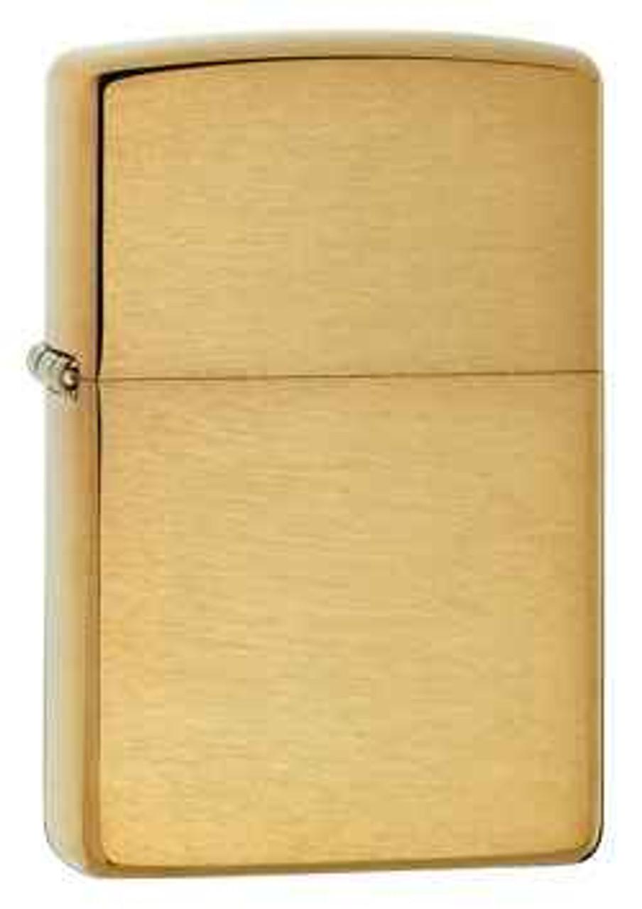 Zippo Z204B Classic Lighter, Brushed Brass