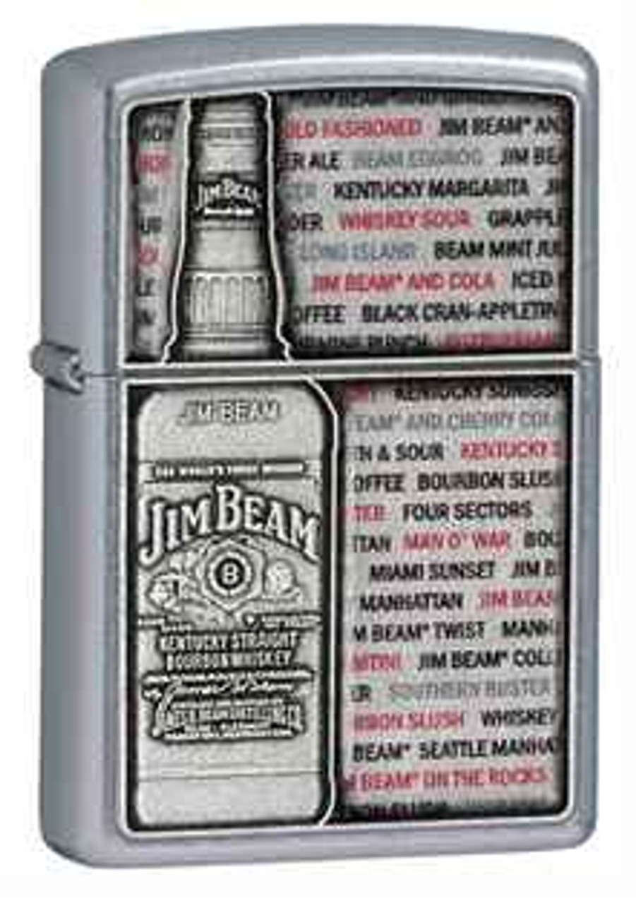 Zippo Z28344 Lighter, Jim Beam Street Chrome