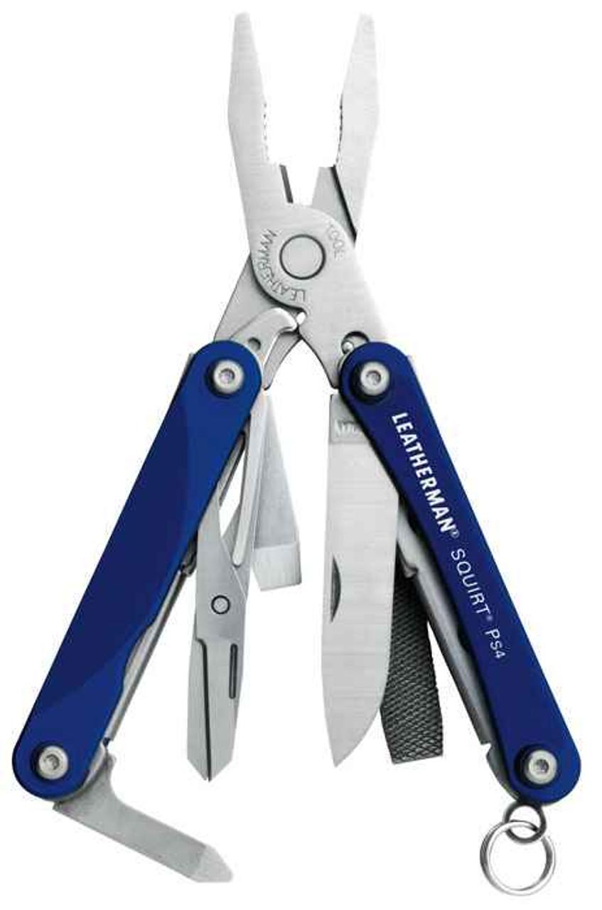 Leatherman 831192 Squirt PS4, Blue Aluminum-(9 TOOLS)