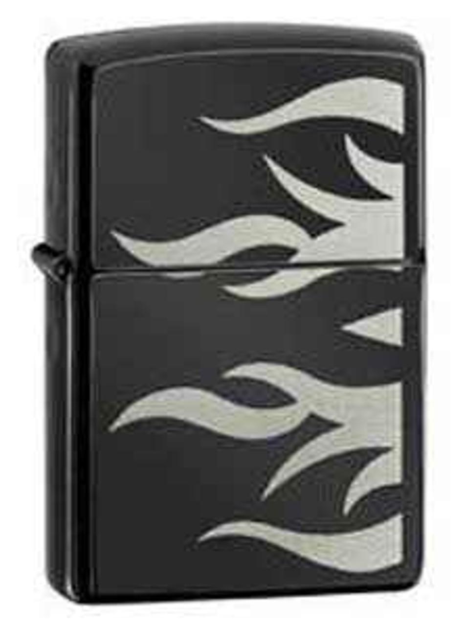 Zippo Z24951 Ebony Tattoo Flame Lighter