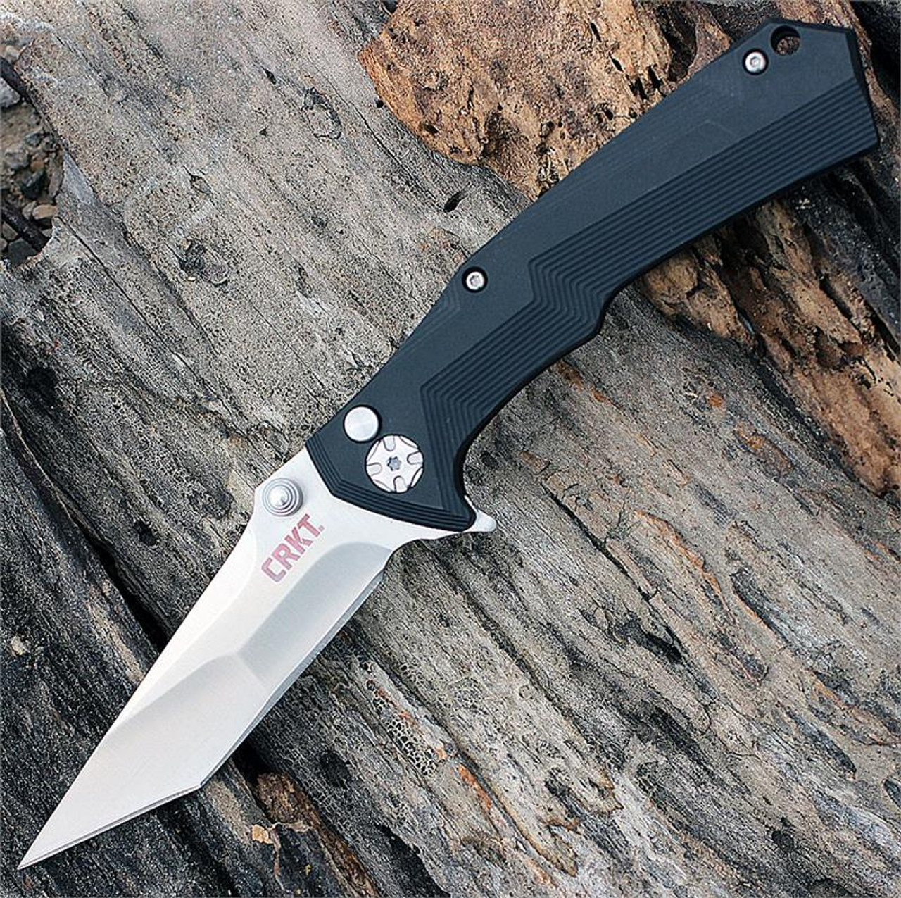 CRKT 5235 Tighe Tac Two Tanto Point Button Lock Flipper
