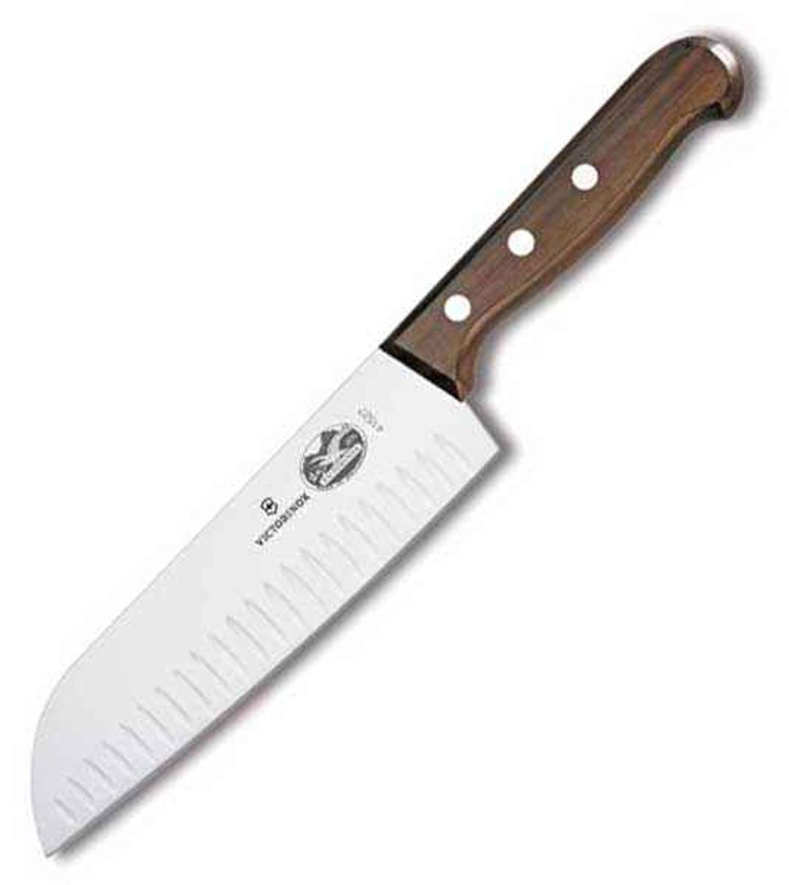 "Forschner 7"" Santoku Stamped Blade, Granton Edge, Rosewood Handle"