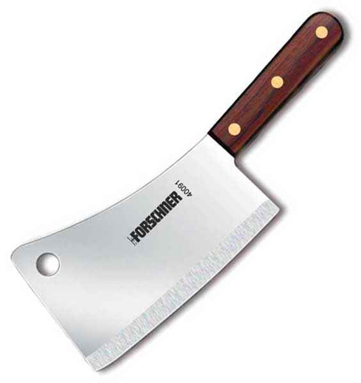 "Forschner Cleaver, Kitchen, 7"" x 3"", 1 lb., Walnut Handle"
