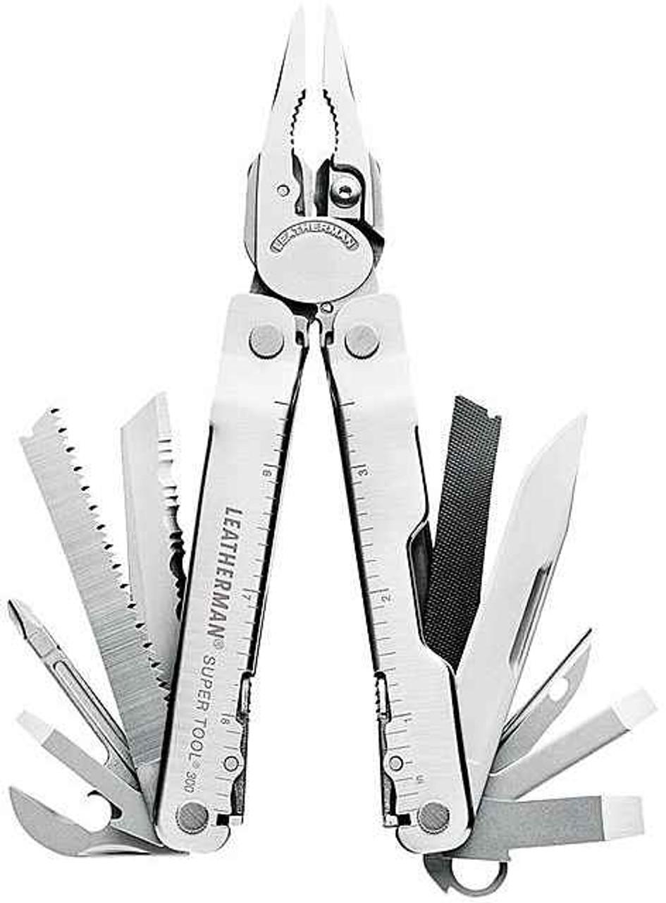 Leatherman 831102 Super Tool 300, Stainless Steel-(19 TOOLS)
