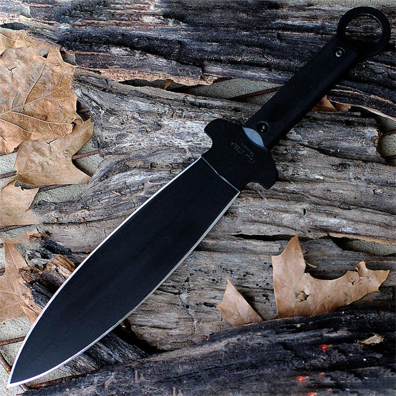 "Cold Steel 80PSSKXL Shanghai Warrior, 9.75"" SK-5 Carbon Steel Plain Blade, Poly Handle, Secure-Ex Sheath"