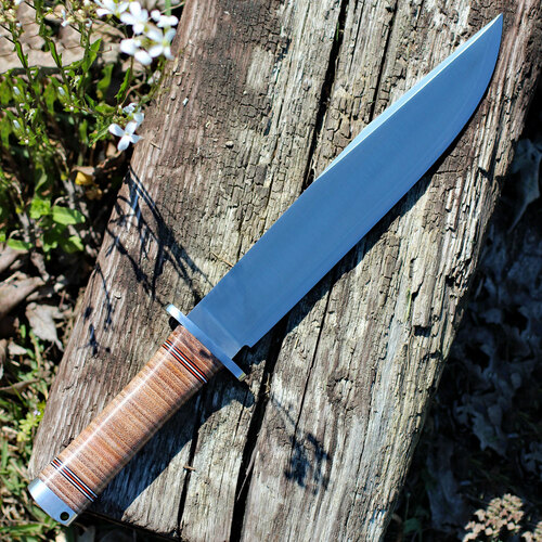 """Fallkniven Thor Northern Light (10"""" Satin VG10) Stacked Leather - Leather Sheath NL1L"""