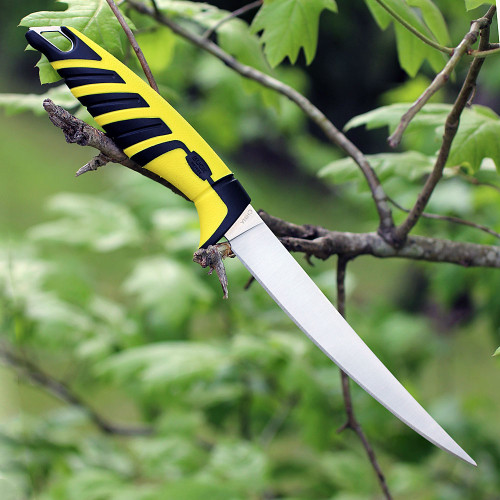 Buck Knives 233YWS Mr. Crappie 6 in. Slab Shaver, Yellow Fillet Knife