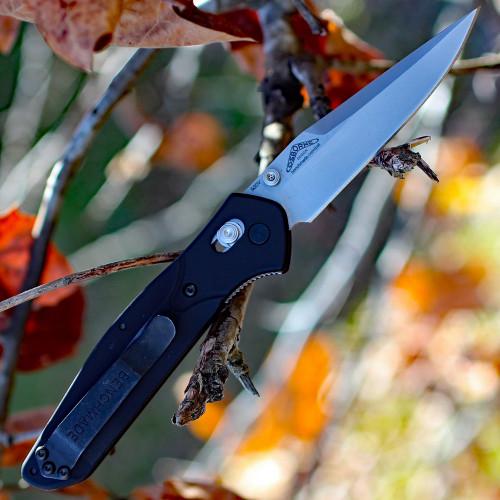 Benchmade Osborne 943 Axis Lock, 3.4 in S30V Stainless, Aluminum Handle, Plain Edge