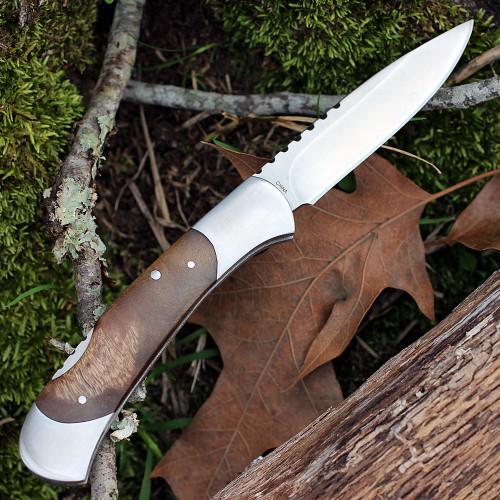 "Browning Lockback, 4"" Closed, Burl Wood Handles"