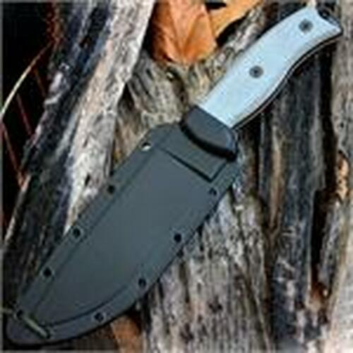 ESEE Cutlery 6 Plain Edge, Rounded Pommel, Black Sheath, Clip Plate