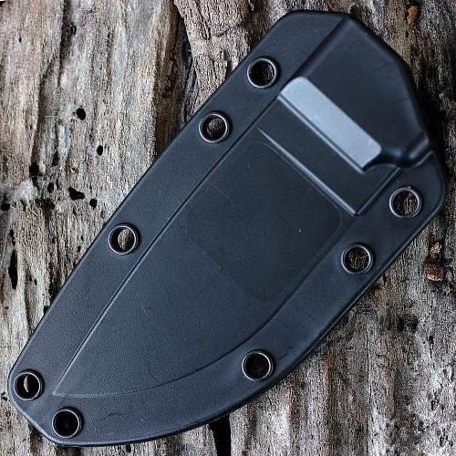 ESEE 3PM-OD, Plain Edge, Modified Pommel, Orange G-10 Handle, Black Sheath