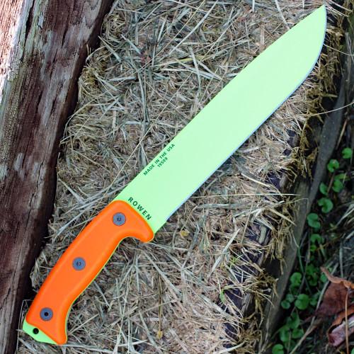 ESEE Junglas, Orange G10, Venom Green Blade