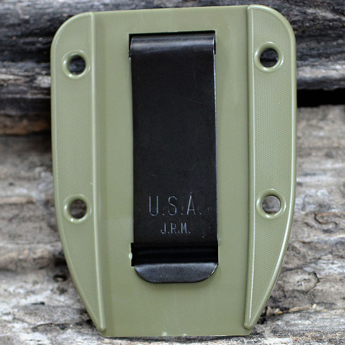 ESEE Model 4 Molded Sheath and Clip Plate, 4-MSOD-CP, OD Green