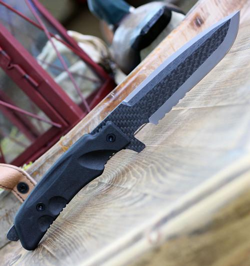 Fox Stealth Carbon Titanium, Titanium Grade 5 & Carbon Fiber, Forprene Handle
