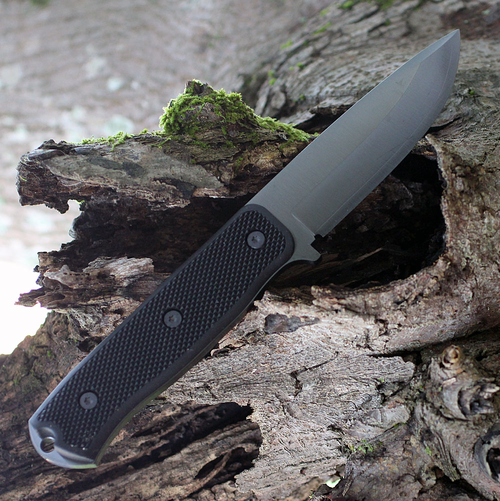 "Fallkniven F1XB F1X Series Black, 4.0"" Lam.CoS Black Tungsten Carbide Blade, Thermorun Handle"