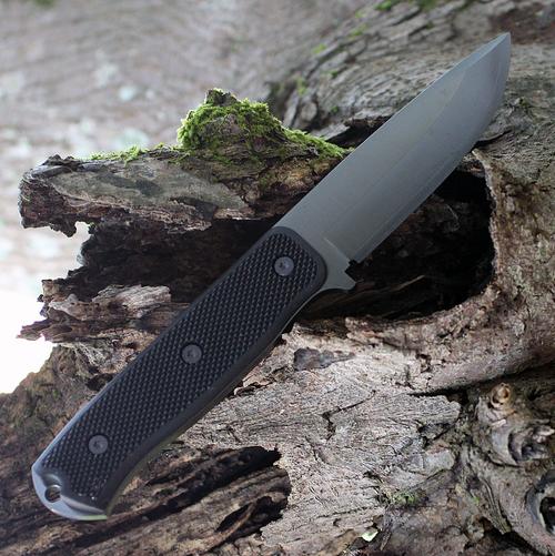 "Fallkniven F1XB F1X Series Black, 4.0"" Lam.CoS Black Tungsten Carbide Blade, Thermorun Handle"
