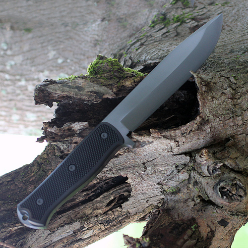 "Fallkniven A1XB, A1X Series Black, 6.34"" Lam.CoS Black Tungsten Carbide Blade, Thermorun Handle"