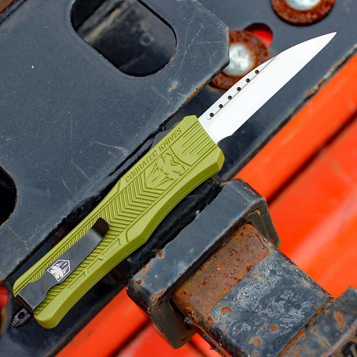 "CobraTec Knives MODCTK-1MWNS Medium CTK-1 OD-Green, 3.0"" D2 Steel Wharncliffe Blade"