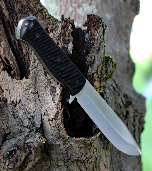 "Fallkniven A1X, A1X Series Satin, 6.34"" Lam.CoS Full Tang Satin Finish Blade, Thermorun Handle"
