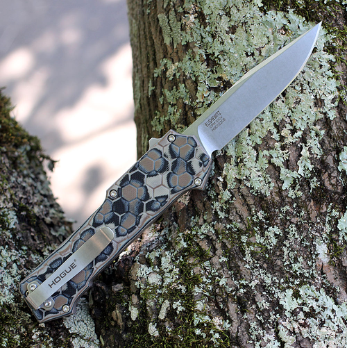 "Hogue Compound 34037, 3.5"" CPM S30V Clip Point Tumbled Blade, G-Mascus Dark Earth G-10 Handle"