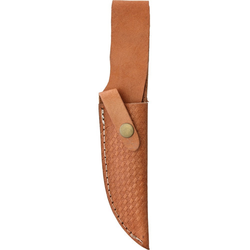 """Rough Ryder 1637 Hunter Stacked Leather, 5"""" Stainless Steel Clip Point, Stacked Leather Handle"""