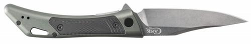 "Case Shark Tooth Flipper Dark Grey Anodized Aluminum 53504, 4 3/4"" Closed Length SS Blade"