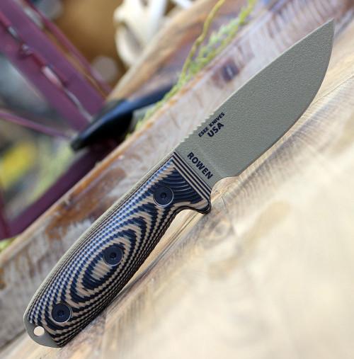 "ESEE-3 3PMDE-005, 3.88"" 1095 Carbon Steel DE Plain Blade, Coyote/Black G10 3D Handle, Black Sheath"