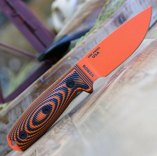 "ESEE-3 3PMOR-006, 3.88"" 1095 Carbon Steel Orange Plain Blade, Orange/Black G10 3D Handle, Black Sheath"