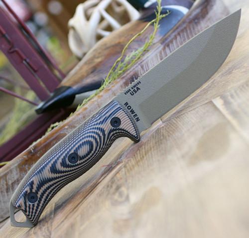 """ESEE-5 5PDE-005, 5.25"""" 1095 Carbon Steel DE Plain Blade, Coyote/Black G10 3D Handle, Black Kydex Sheath"""