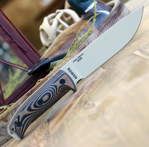 """ESEE-6 6PDT-005, 5.75"""" 1095 Carbon Steel DT Plain Blade, Coyote/Black G10 3D Handle, Black Molded Sheath"""