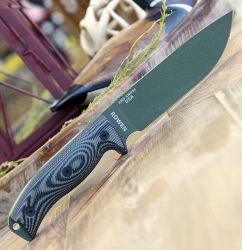 "ESEE-6 6POD-003, 5.75"" 1095 Carbon Steel OD Green Plain Blade, OD Green/Black 3D Handle, Black Molded Sheath"